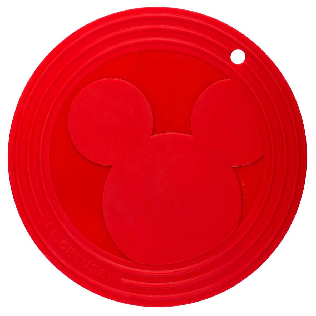 Suporte de Silicone Mickey Vermelho Le Creuset