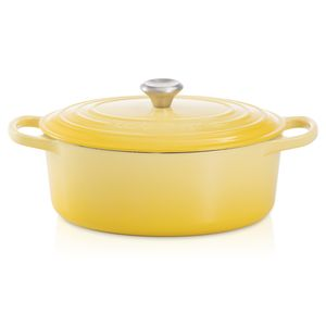 Panela-Oval-Signature-31-cm-Amarelo-Soleil-Le-Creuset
