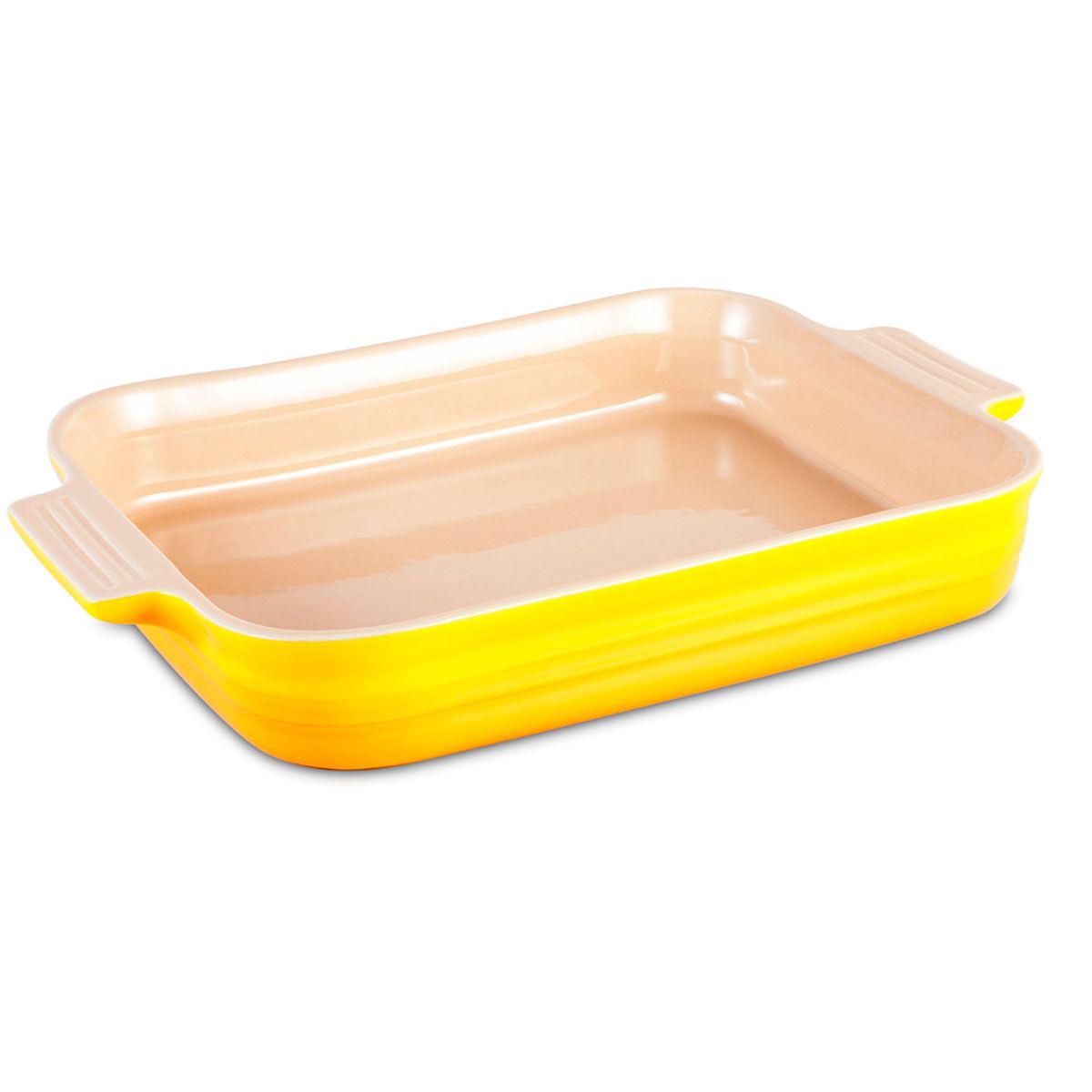 Travessa Retangular Amarelo Soleil 3 litros Le Creuset