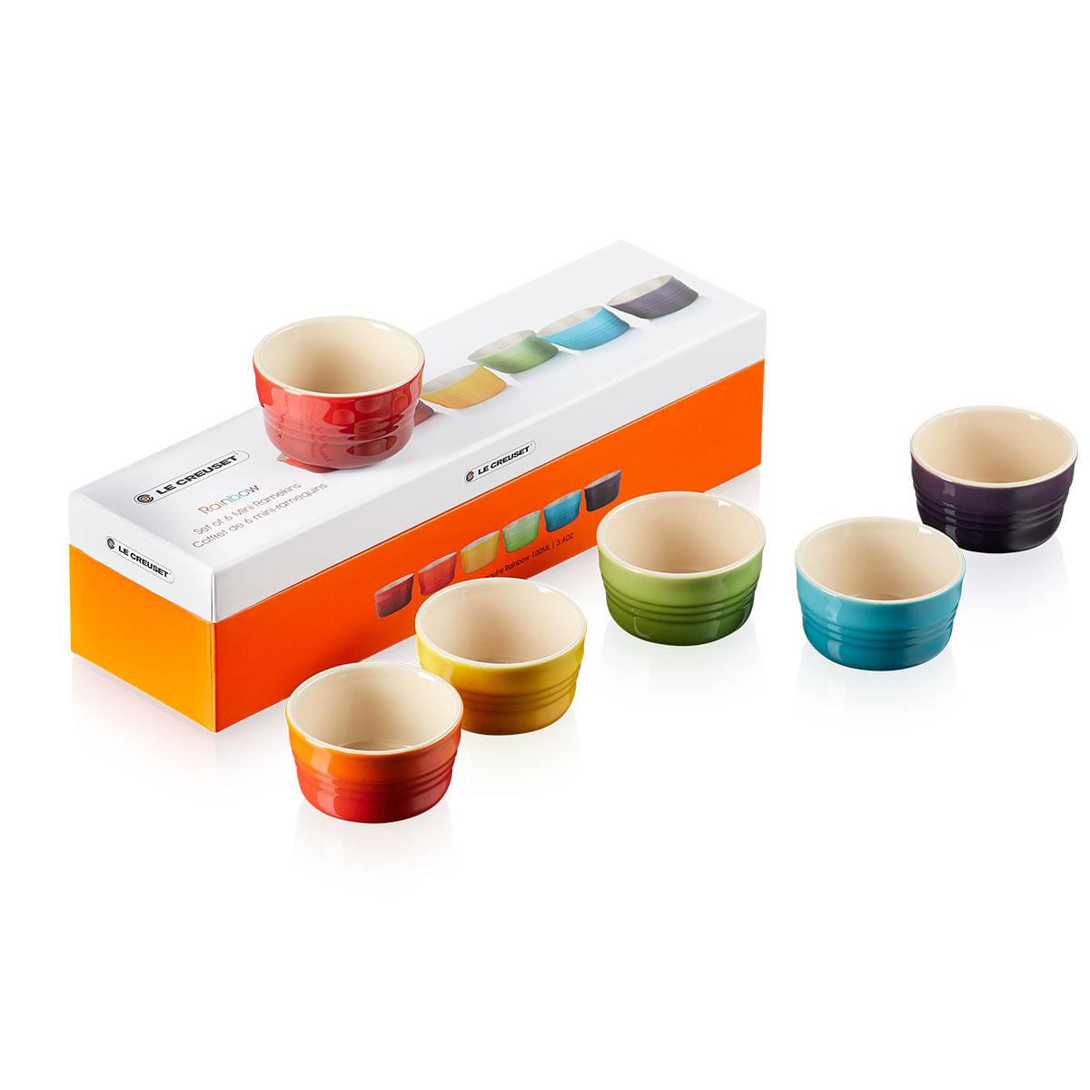 Ramekins Gift Collection Mini 100 ml 6 Peças Colorido Le Creuset