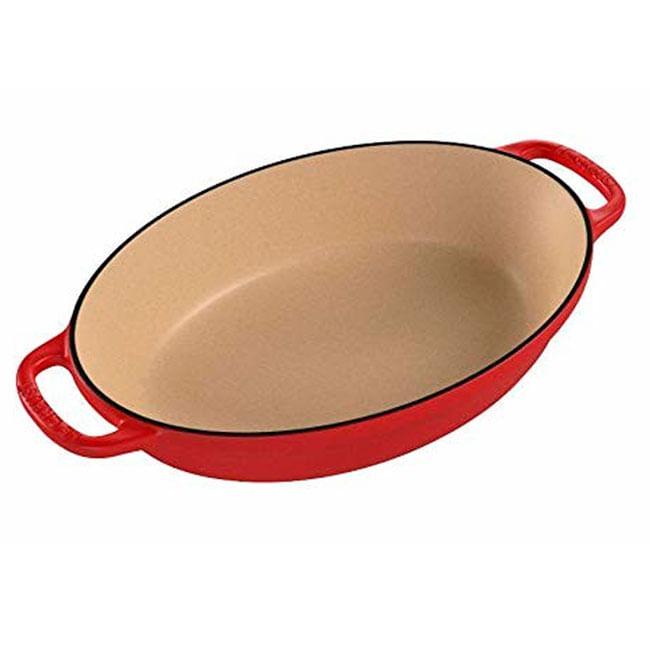 Assadeira Oval Signature 24 cm Vermelho Le Creuset