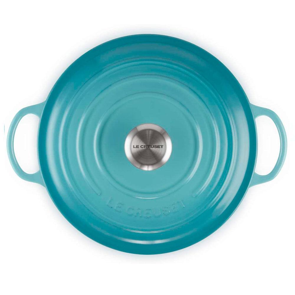Panela Marmita Gourmet Signature 26 Cm Azul Caribe Le Creuset