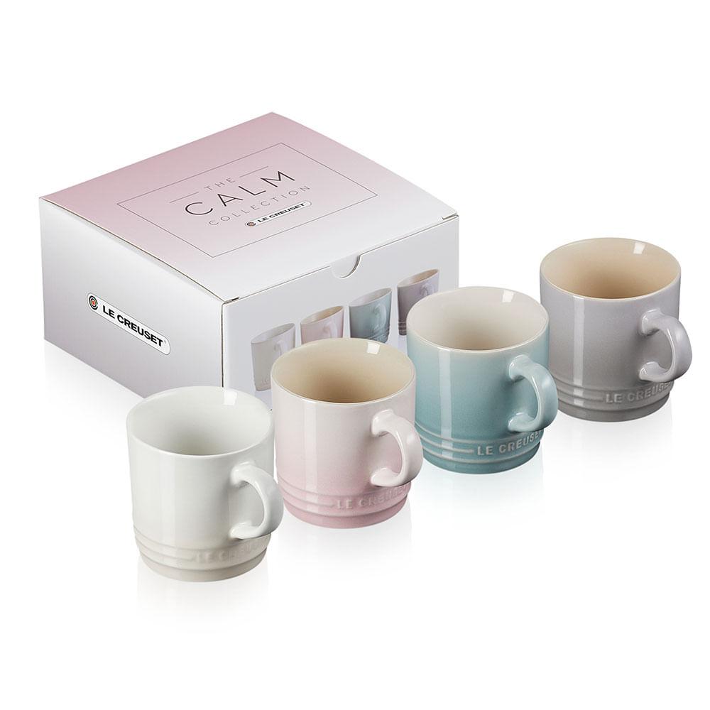 Canecas Espresso Calm Collection Set 4 Peças com Branco Meringue Le Creuset