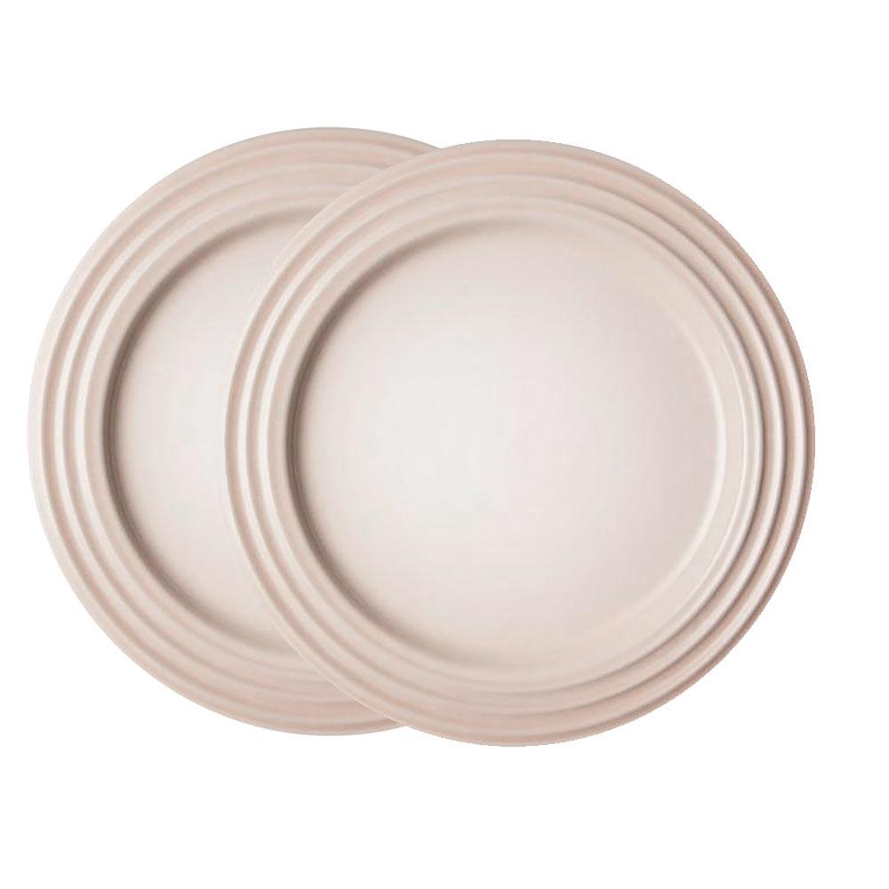 Prato Raso 2 Peças 22 cm Branco Meringue Le Creuset